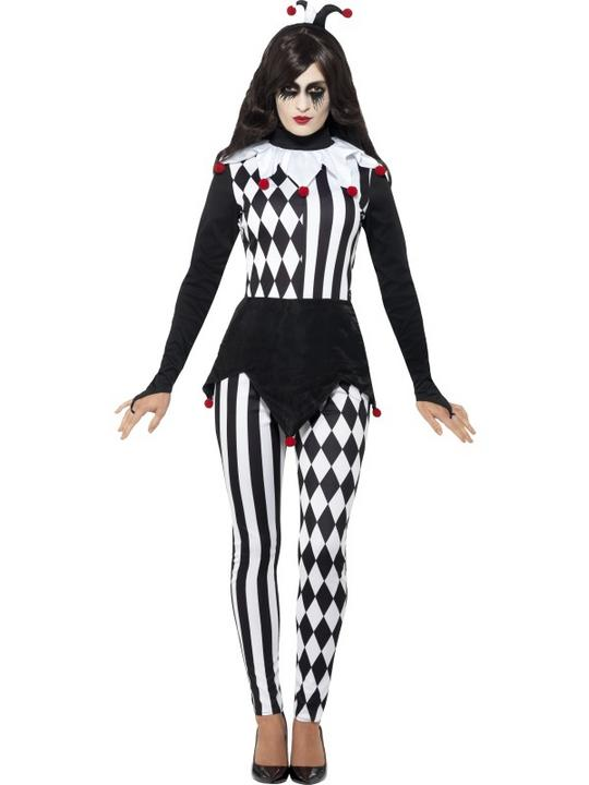 Women's Jester Fancy Dress Costume Thumbnail 1