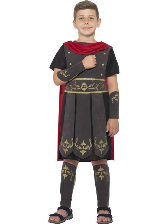 Boys Roman Soldier Costume Kids School Book Week Gladiator Fancy Dress Outfit Thumbnail 1