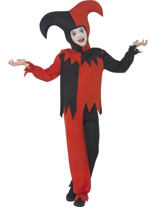 Boys Halloween Twisted Jester Costume Kids Horror Fancy Dress Outfit Thumbnail 2
