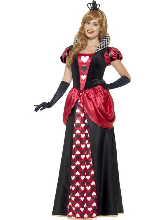 Women's Royal Red Queen Fancy Dress Costume Thumbnail 1