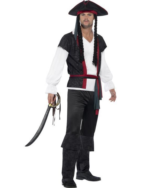 Men's Aye Aye Pirate Captain Fancy Dress Costume Thumbnail 1