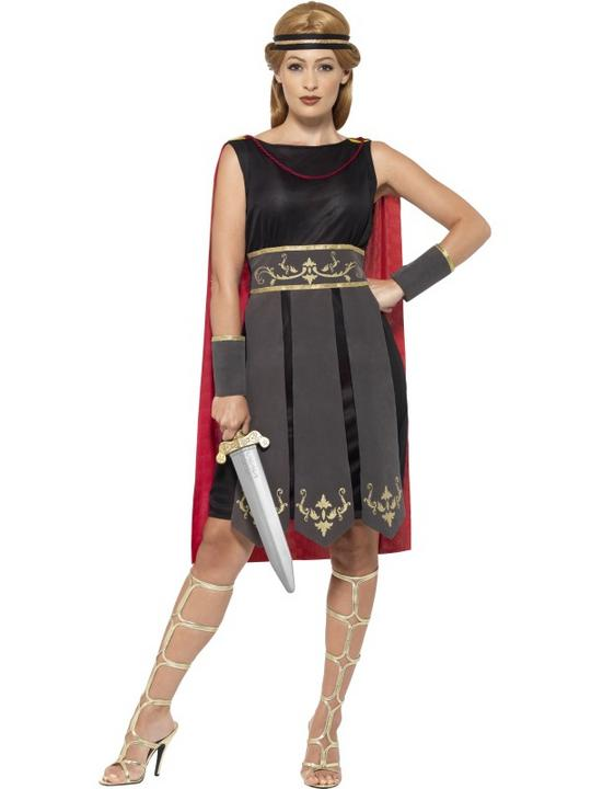 Women's Roman Warrior Fancy Dress Costume Thumbnail 1