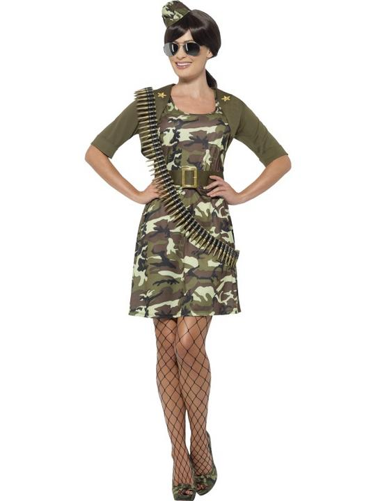 Women's Combat Cadet Fancy Dress Costume Thumbnail 1