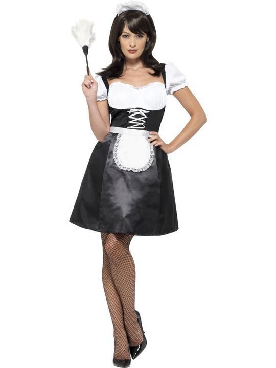Women's French Maid Fancy Dress Costume  Thumbnail 1