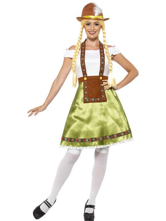 Women's Bavarian Maid Fancy Dress Costume Thumbnail 1