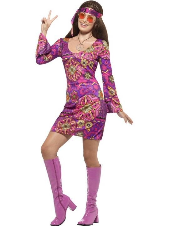 Woodstock Hippie Chick Costume Thumbnail 1