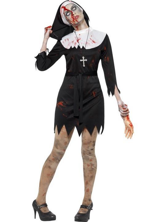 Women's Zombie Sister Fancy Dress Costume Thumbnail 1