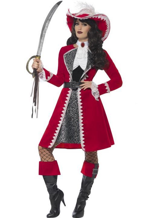 Women's Authentic Lady Captain Costume Thumbnail 1