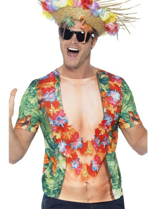 Hawaiian T-Shirt Fancy Dress Thumbnail 1
