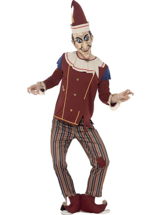 Mens Halloween Possessed Punch Costume Gents Fancy Dress Outfit Thumbnail 1