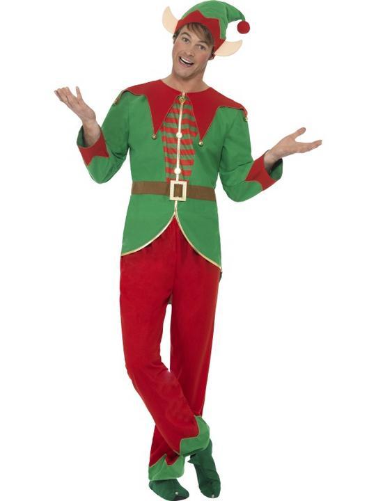 Men's Elf Fancy Dress Costume Thumbnail 1