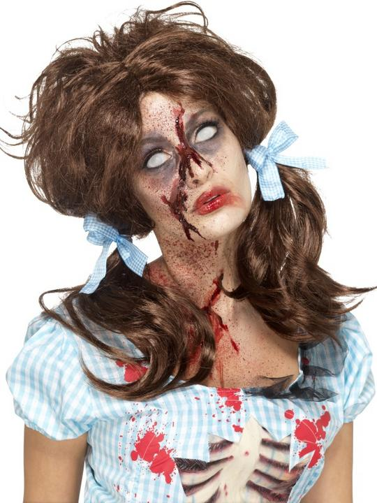 Zombie Bloody Country Girl Wig Thumbnail 1