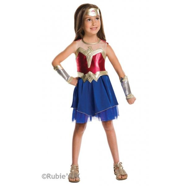 Girl's Wonder Woman Dawn of Justice Fancy Dress Costume