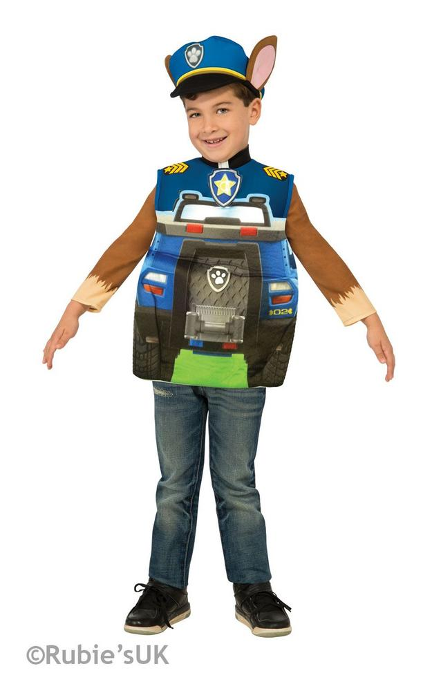 Paw Patrol Boy's Chase Fancy Dress Costume