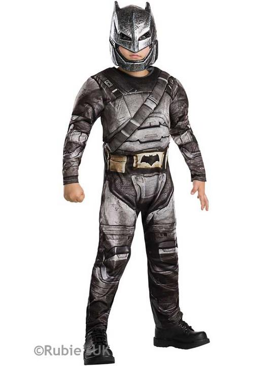 Boy's DELUXE BATMAN ARMOUR - DAWN OF JUSTICE Fancy Dress Costume Thumbnail 1