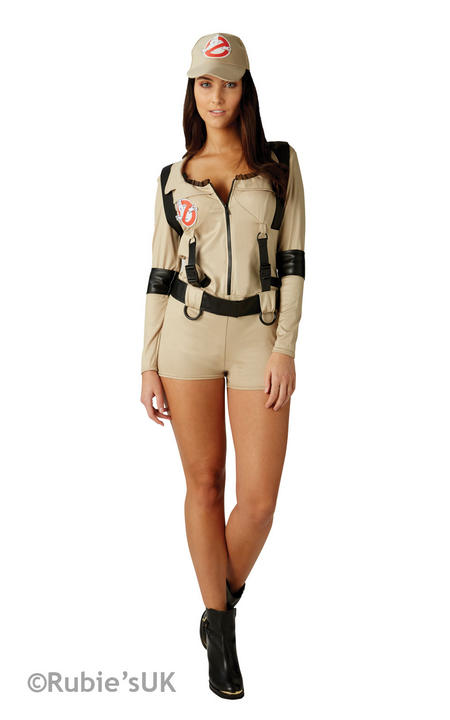Official Ghostbuster Costume Ladies Licensed Ghostbusters Halloween Fancy Dress Thumbnail 1