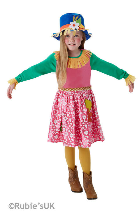 Girl's Mrs Scarecrow Fancy Dress Costume Thumbnail 1