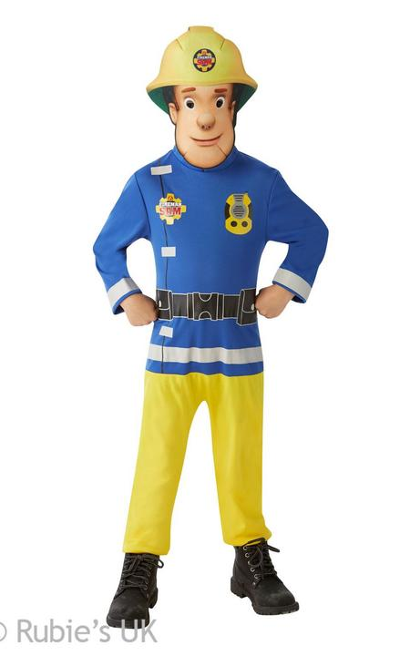 Boy's Classic Fireman Sam Fancy Dress Costume Thumbnail 1