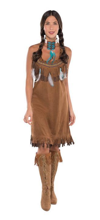 Native American Women's Fancy Dress Costume Thumbnail 1