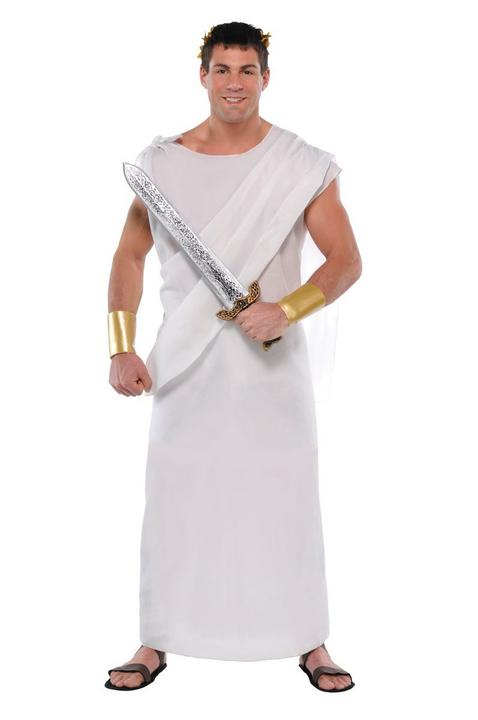 Unisex Toga Fancy Dress Costume Thumbnail 2
