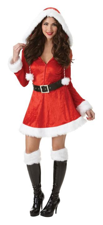 Women's Sassy Santa Fancy Dress Costume Thumbnail 1