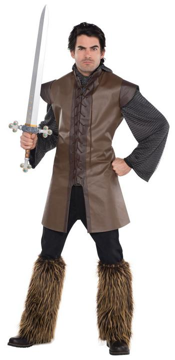 Men's Warrior Tunic Fancy Dress Costume Thumbnail 1
