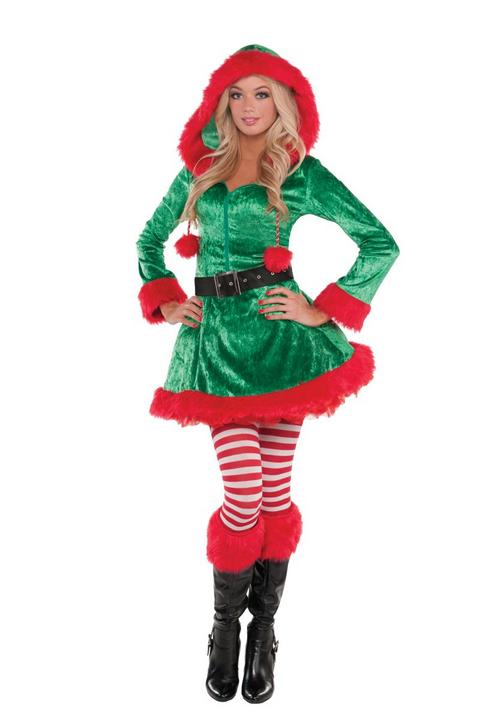 Elf Sassy Women's Fancy Dress Costume Thumbnail 1