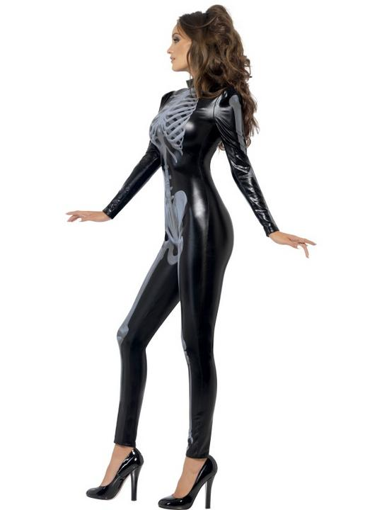 Fever Skeleton Catsuit  Costume Thumbnail 4
