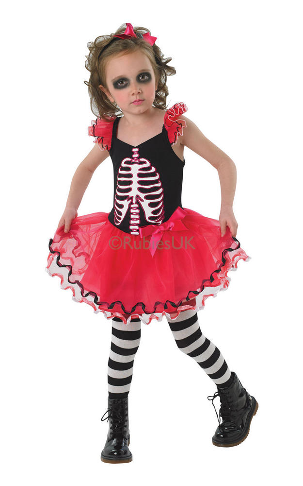 Childs Skull Tutu  Dress Costume