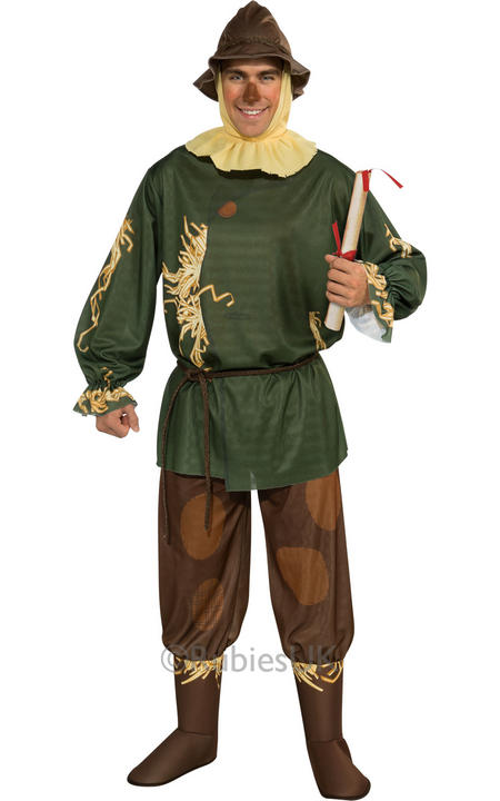 Adult Licensed Wizard Of Oz Scarecrow Mens Fancy Dress Thumbnail 1
