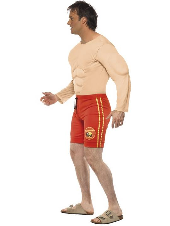 SALE! Adult Licensed TVs Baywatch Lifeguard Mens Fancy Dress Stag Party Costume Thumbnail 4
