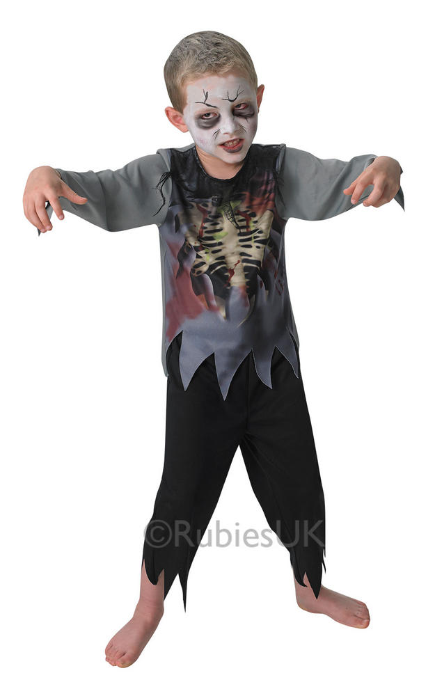 SALE! Kids Bargain Zombie Boys Halloween Horror Party Fancy Dress Costume Outfit