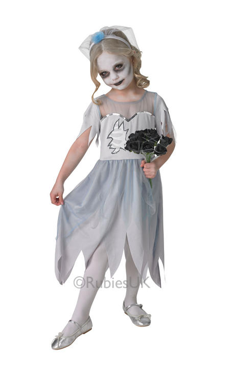 Child Dearly Departed Corpse Bride Girls Halloween Fancy Dress Kids Costume  Thumbnail 1