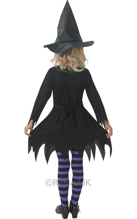 SALE Kids Black Sorceress Witch Girls Halloween Party Fancy Dress Costume Outfit Thumbnail 2