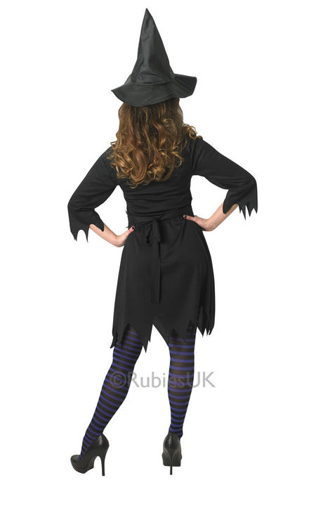 Adult Sexy Black Enchantress Witch Ladies Halloween Fancy Dress Costume Outfit Thumbnail 2