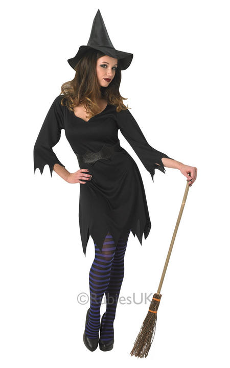 Adult Sexy Black Enchantress Witch Ladies Halloween Fancy Dress Costume Outfit Thumbnail 1