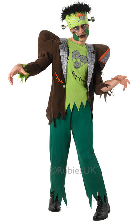 Adult Zombie Franknstein Frank'nstein Mens Halloween Fancy Dress Costume Outfit Thumbnail 1