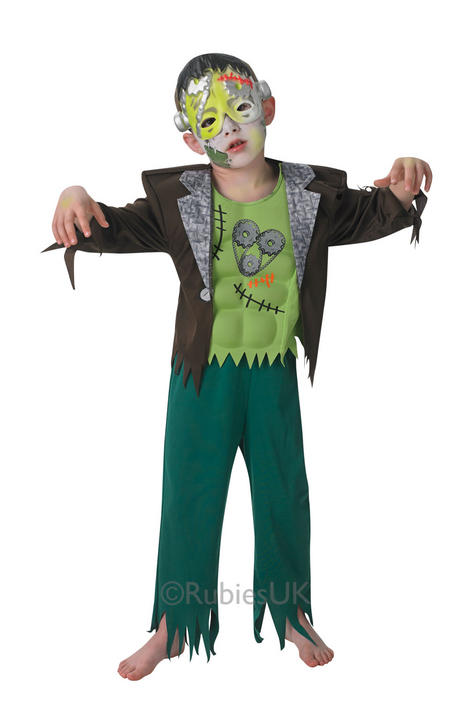 Kids Frankenstein Frank'nstein Boys Halloween Party Fancy Dress Costume Outfit Thumbnail 1