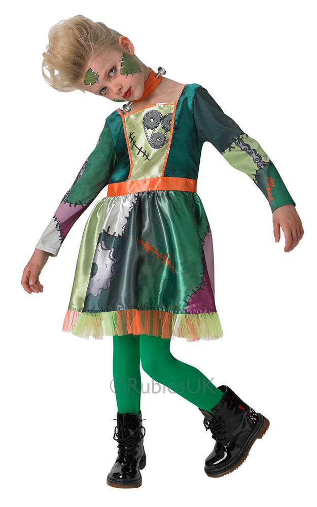 Kids Frankenstein Frank'N Girl Girls Halloween Party Fancy Dress Costume Outfit
