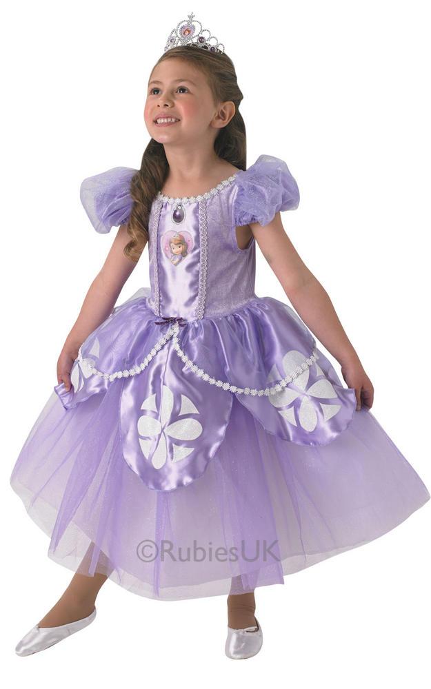 NEW Child Disney Premium Sofia The First Princess Girls Fancy Dress Kids Costume