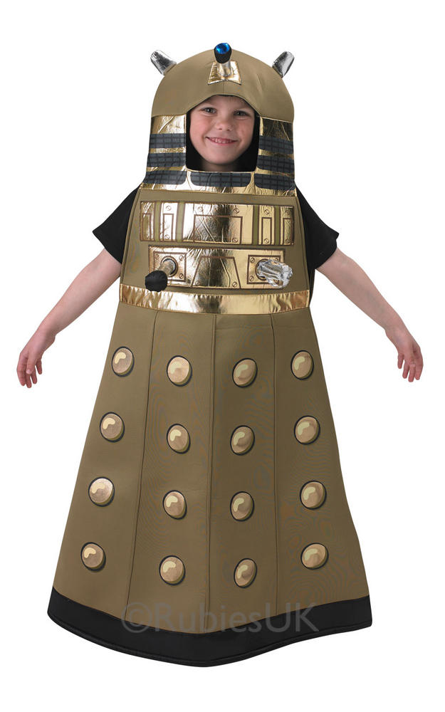 Child BBC Doctor Who Dalek Boys Book Week Fancy Dress Kids Halloween Costume