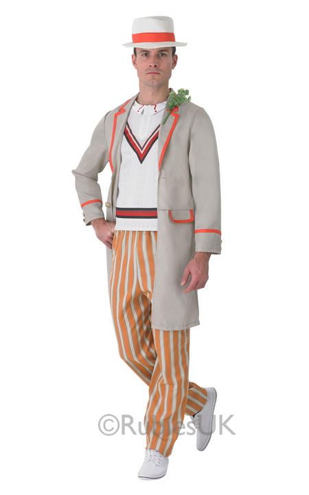 SALE! Adult 5th Doctor Who Peter Davidson Mens Fancy Dress Costume Party Outfit Thumbnail 1