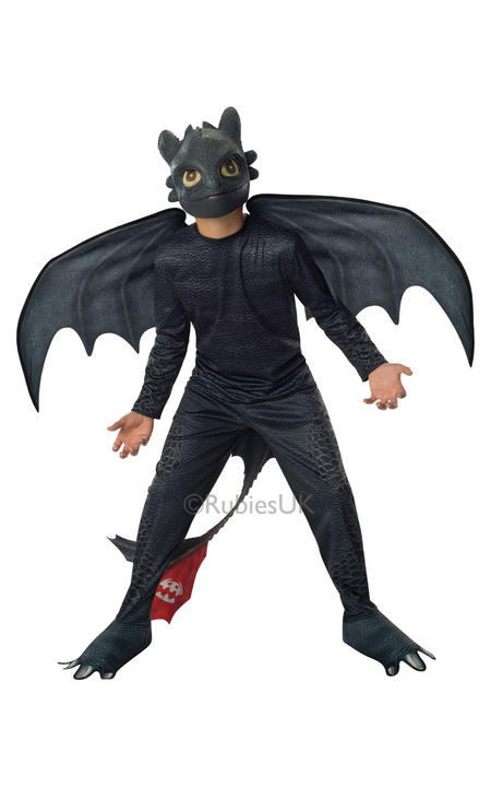 Child How To Train Your Dragon Toothless Night Fury Fancy Dress Kids Costume Thumbnail 1