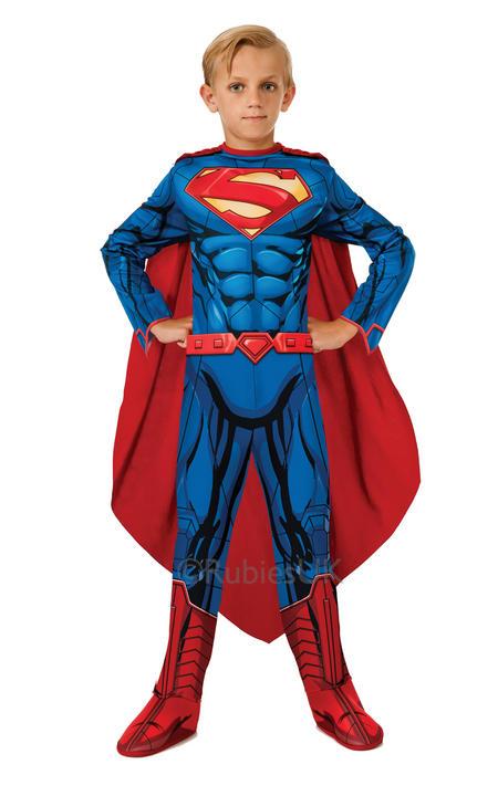 SALE! Childrens Comic Superhero Superman Boys Fancy Dress Kids Costume Outfit Thumbnail 1