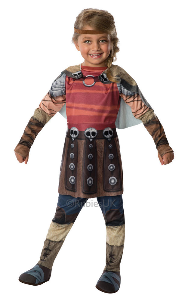 Kids How To Train Your Dragon 2 Viking Astrid Girls Fancy Dress Costume Outfit