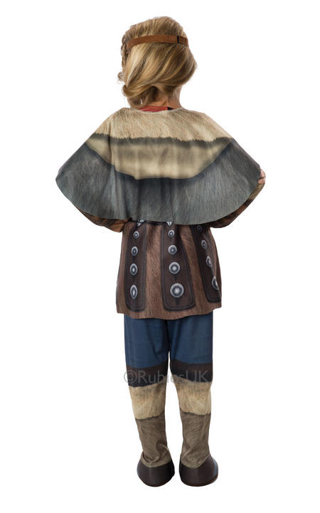 Kids How To Train Your Dragon 2 Viking Astrid Girls Fancy Dress Costume Outfit Thumbnail 2