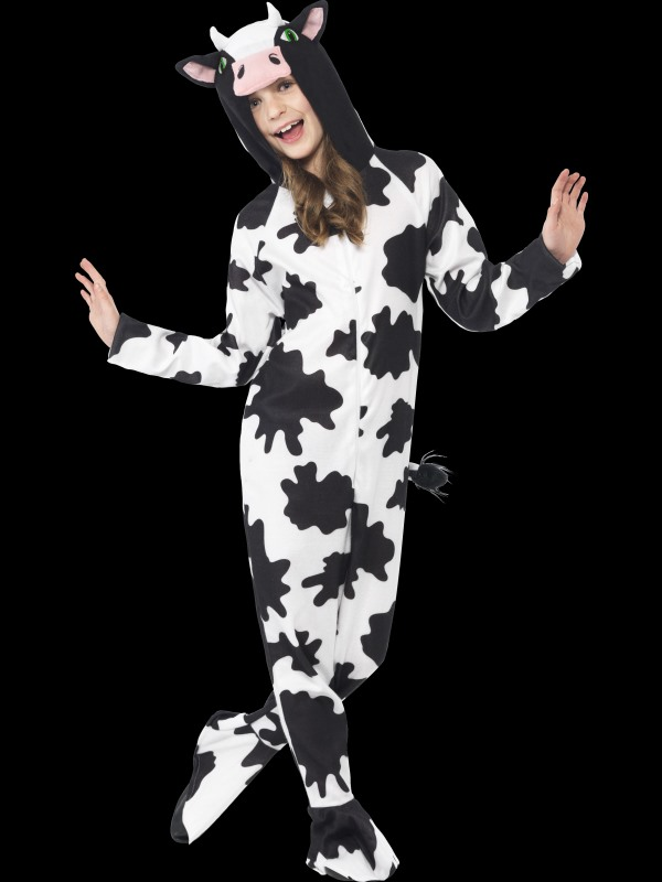 Kids Farm Animal Cow Jumpsuit Girls / Boys Fancy Dress Costume Party Outfit