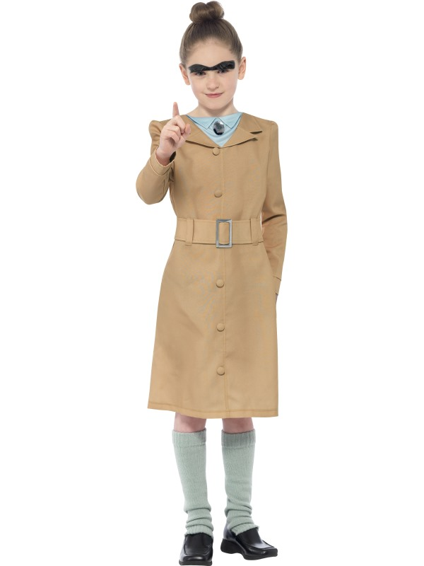 Child Roald Dahl Miss Trunchbull Girls Book Week Fancy Dress Kids Costume Outfit