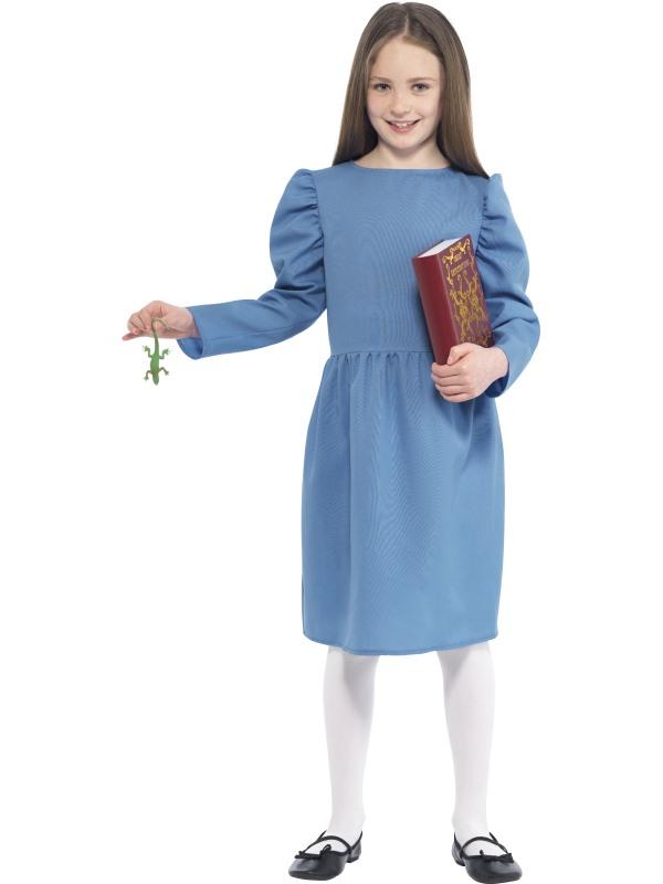 Kids Roald Dahl Matilda Costume, Newt & Book Girls Book Week Fancy Dress Outfit