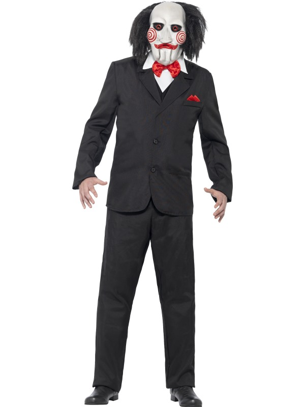 Adult Movie Licensed Saw Jigsaw Mens Halloween Party Fancy Dress Costume Outfit